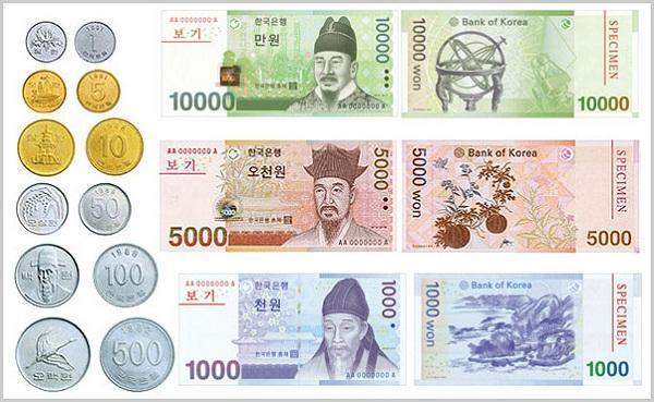 1 Won bằng bao nhiêu tiền Việt Nam? Tỷ giá Won Hàn Quốc